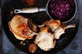 Roast pork with braised red cabbage.