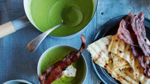 Bacon and pea soup.