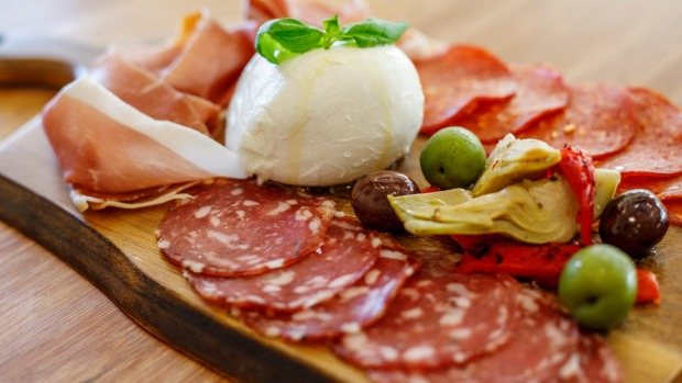Start with an antipasto board to share.