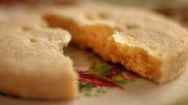 Traditional Scottish shortbread biscuits.