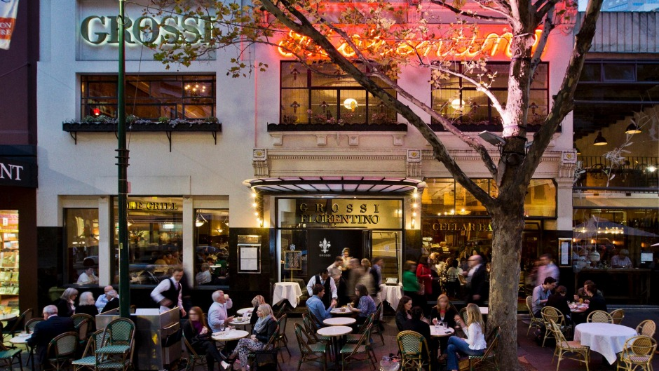 Carlo Grossi, the owner of Grossi Florentino, says alfresco dining as a restaurant's sole revenue stream is not viable.