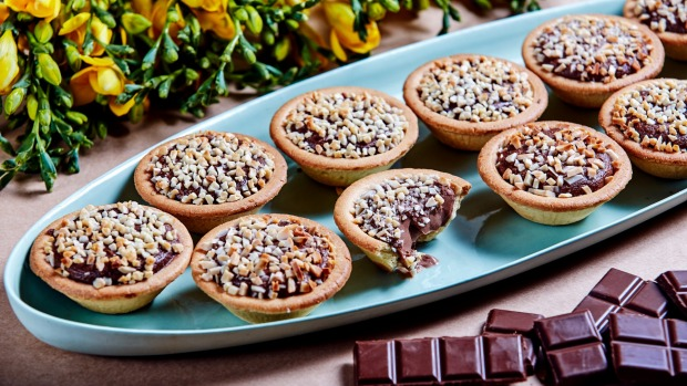 The 10-centimetre tarts come in chocolate as well as cheese flavours.