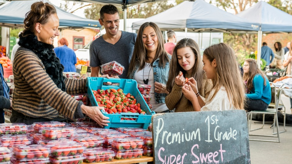 Sample foods from the farms of the Barossa at Barossa Farmers Market.