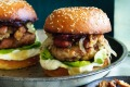 Frankenfood: Turducken burger with bacon and brown bread stuffing.
