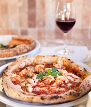 Pizza at the new Trecento Woodfired Pizzeria and Bar in manuka.