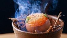 Go-to dish: the clacked egg.