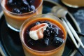 Butterscotch pudding with salted cream and port raisins.