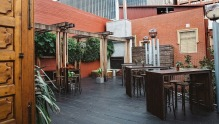 The Stables Bar Restaurant Outdoor Seating Area