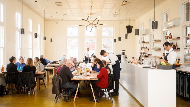 Inside the Agrarian Kitchen Eatery.