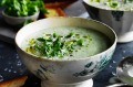 Cream of fennel and parmesan soup.