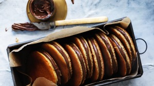 Adam Liaw's Japanese Nutella pancake sandwiches.