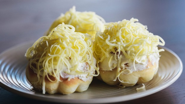 The ensaymada - soft buns with buttercream and cheese - which led to the start of the business.