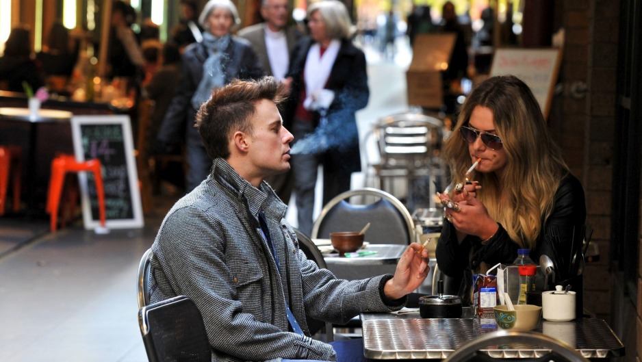 From August 1, smoking will be banned in nearly all outdoor dining areas in Melbourne.