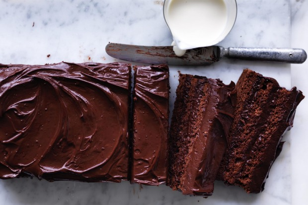Neil Perry's layered almond and chocolate cake with rum syrup <a ...