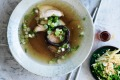 EMBARGOED FOR SUNDAY LIFE, JULY 2/17 ISSUE. Adam Liaw recipe :?Chicken, shiitake and pak choy hotpot Photograph by ...