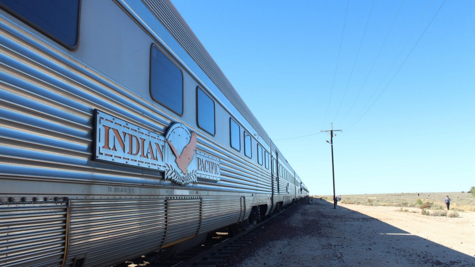 Delicious trip: The Indian Pacific crosses the Nullarbor Plain at a leisurely pace.