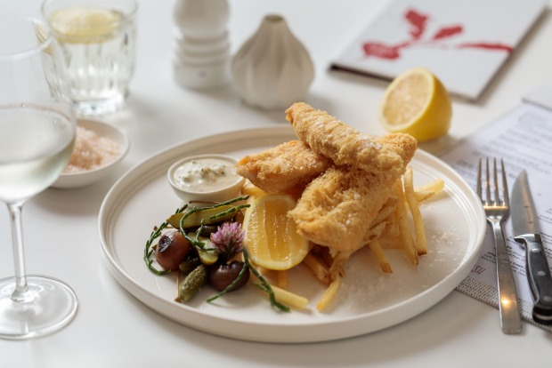 Fish and chips at Red Radish