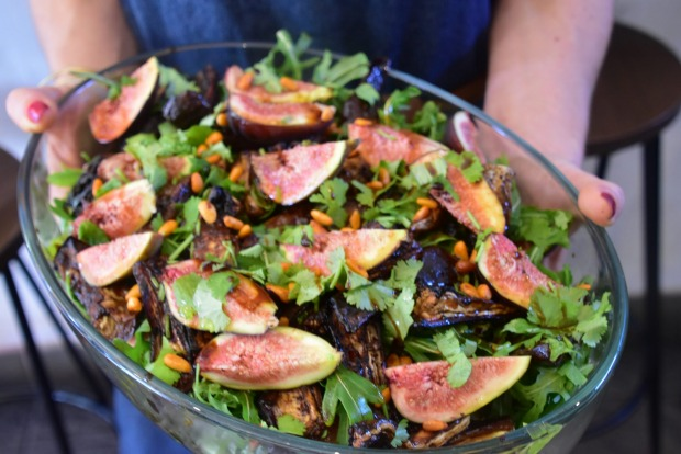 Fig Salad with pinenuts and chargrilled veg from The Press
