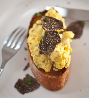 Truffles are good friends with eggs.