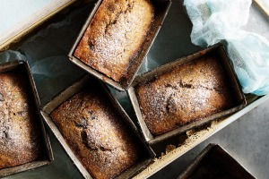 Mini choc-banana cakes.