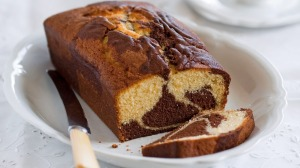 Two-tone marble cake.