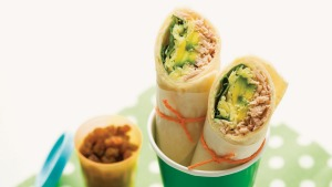 Roll up, roll up: Simple tuna wraps.