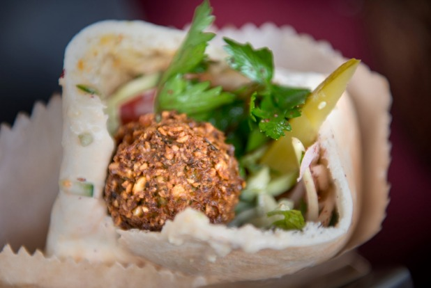 Shuki and Louisa have graduated from a farmers' market stall to Very Good Falafel in Brunswick.