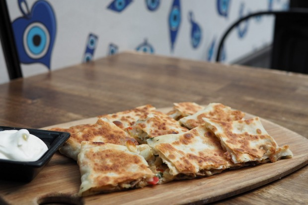 Gozleme is made to order at Goz City in the CBD.