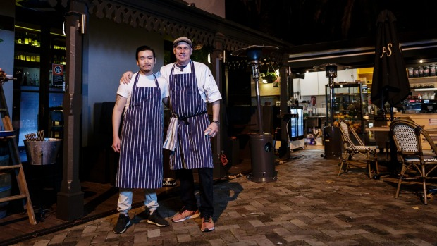 Chefs Michael Bengtsson and Say Thongchoi at Sven-San.