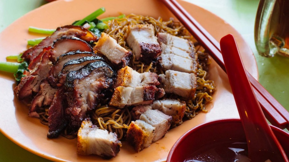 The wantan mee at Yulek is all about the stellar barbecue pork and crisp pork belly.