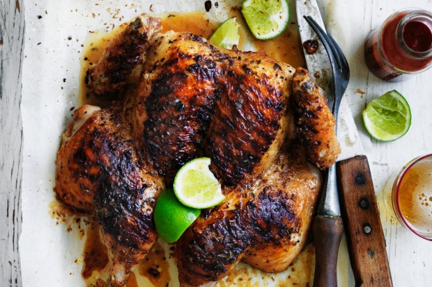 Rodney Dunn's char-grilled whole chicken with cumin and lime <a ...