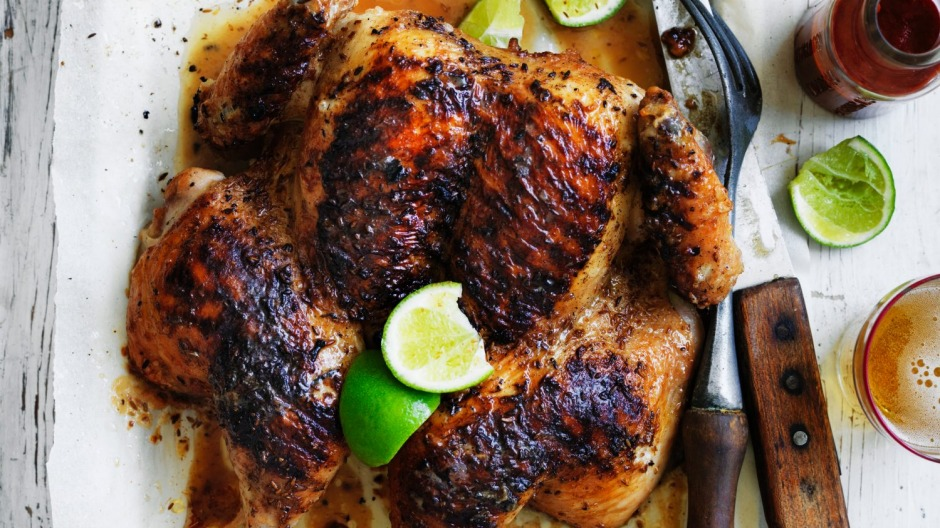 Rodney Dunn's char-grilled butterflied whole chicken with cumin and lime.