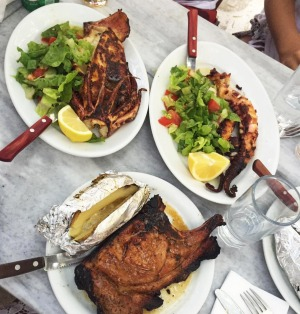 Grilled meats and seafood at Kiki's.