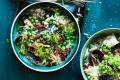 Midweek mussels: Big bowls of mussels, risoni, peas and bacon.