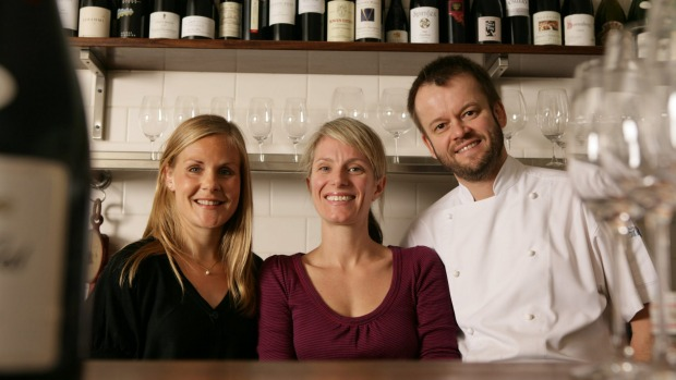 Restaurant manager Clara Davidson, left, with Jane and Jeremy Strode at Bistrode in Surry Hills.