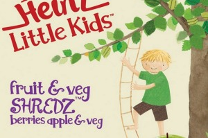 Screenshot showing a box of Heinz Little Kids Fruit and Veg Shredz