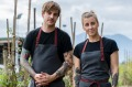 Chefs Matt Stone and Jo Barrett, who are blazing a zero-waste trail at Oakridge winery in the Yarra Valley.