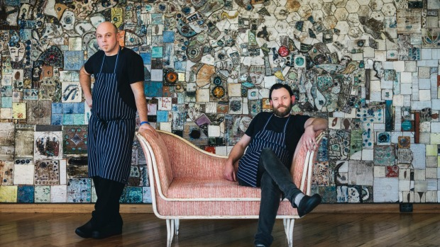 Monster head chef Dan Flatt (left) and New Acton Group head chef Sean McConnell.