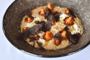 Go-to dish: Risotto with  Tasmanian black truffle.