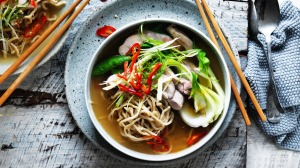 Chinese chicken noodle soup with a chilli kick.