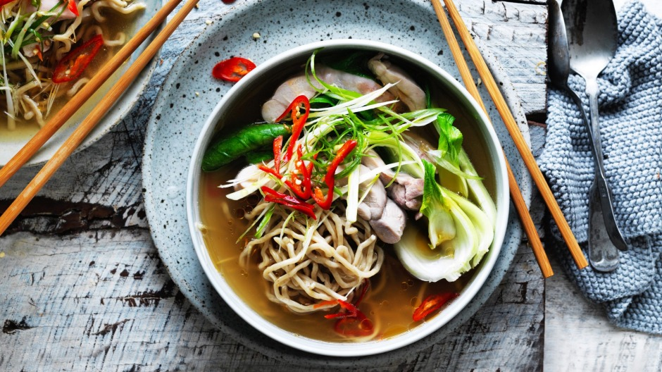 Kylie kwongs chicken chilli and hokkien noodle soup recipe chinese chicken noodle soup with a chilli kick forumfinder Choice Image