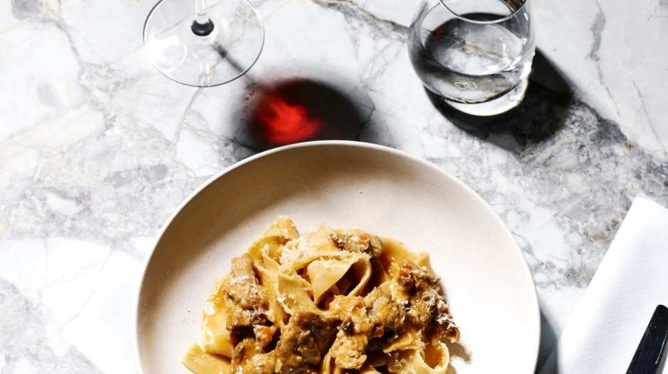 Pappardelle with duck ragout and porcini mushrooms at Melbourne's Tipo 00.