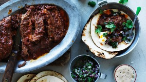 Lip-smacking beer braised ribs wrapped in a soft flour tortillas.