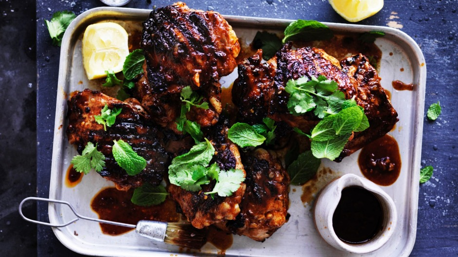 Neil Perry's spicy barbecued chicken.