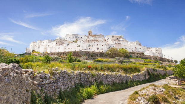Stunning Ostuni, the so-called white city, is an hour's drive north of Lecce.