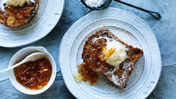 Top your bunker French toast with any jam, marmalade or canned fruit in the cupboard.