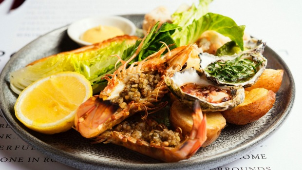 Anzio seafood plate is enough for two to share.