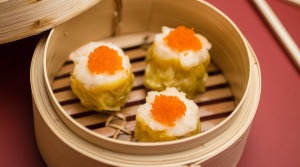 Unmissable: Sui mai topped with crab roe.