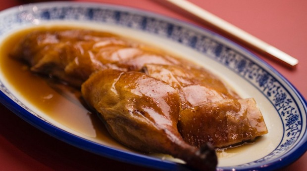 Roast duck served at Jade Temple on Bridge Street which is now offering Yum Cha.