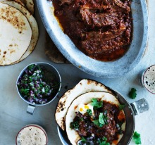 Lip-smacking beer braised rib wrapped in a soft flour tortilla.
